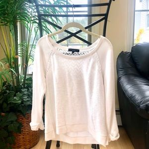 Sanctuary White Pull Over Sweater